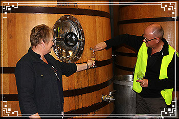 Hawkes Bay Scenic Tours - Sampling-wine from-a-French-Cuve