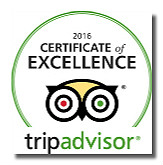 TripAdvisor Certificate of Excellence award for Hawkes Bay Scenic Tours, 2013, 2014, 2015. 2016