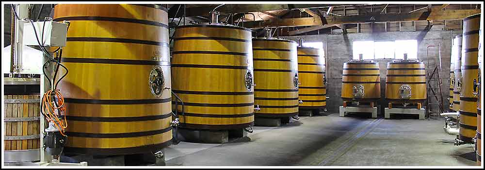 Hawkes Bay Scenic Tours - Church-Rd-new-wine-barrels awaiting the new seasons wine. Can be viewed on any of our