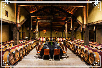 Enjoy the fab setting with your meal with Hawkes Bay Scenic Tours at Church-Rd-Winery