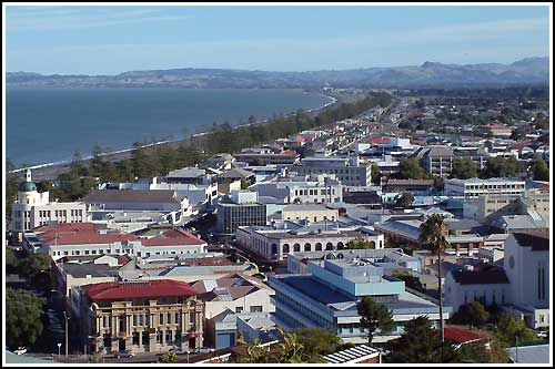 Napier as viewed on sightseeing tours with Hawkes Bay Scenic Tours