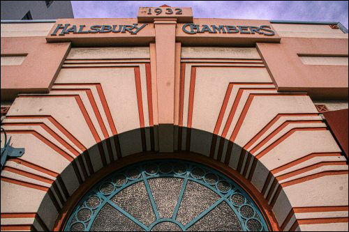 Art Deco shop front in Napier