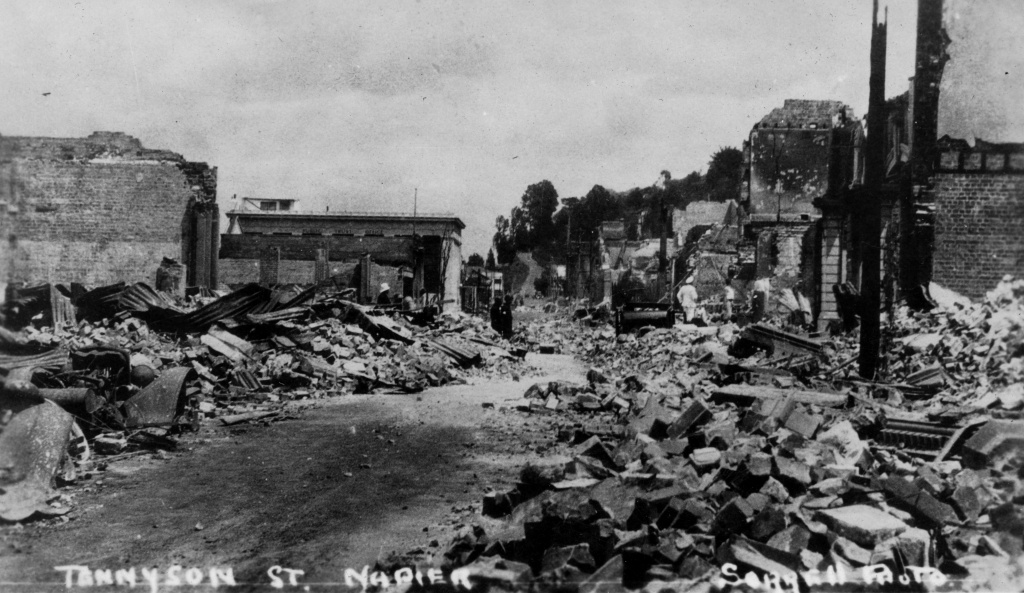 Tennyson Street Napier after the Quake